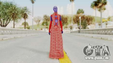 Mass Effect 3 Aria TLoak Dress für GTA San Andreas zweiten Screenshot