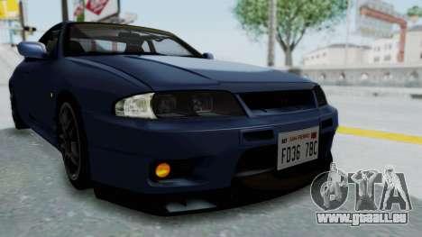 Nissan Skyline R33 GT-R V-Spec 1995 für GTA San Andreas obere Ansicht