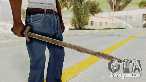 Skyrim Iron Long Sword pour GTA San Andreas deuxième écran