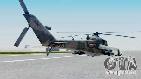 Mi-24V Russian Air Force 46 für GTA San Andreas linke Ansicht