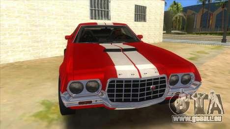 1972 Ford Gran Torino Drag pour GTA San Andreas vue arrière