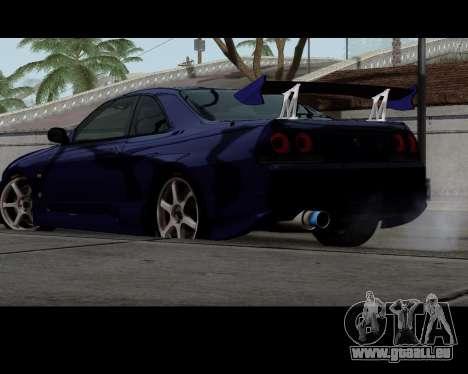 Nissan R33 GT-R Tunable pour GTA San Andreas laissé vue