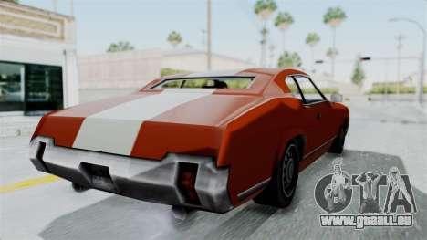 GTA Vice City - Sabre Turbo (Unsprayable) pour GTA San Andreas vue de droite