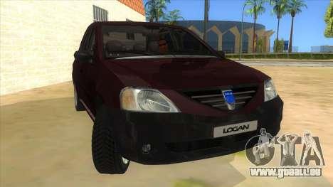 Dacia Logan V2 Final pour GTA San Andreas vue arrière