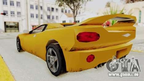 GTA 3 Infernus pour GTA San Andreas sur la vue arrière gauche