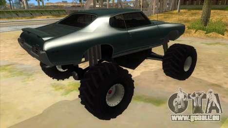 1969 Pontiac GTO Monster Truck pour GTA San Andreas vue de droite