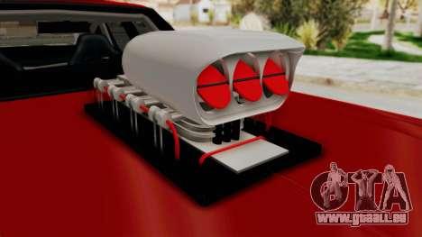 Dodge Monaco 1974 Drag für GTA San Andreas Rückansicht