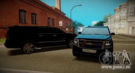 2015 Chevrolet Suburban Staatsanwaltschaft für GTA San Andreas rechten Ansicht