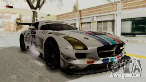 Mercedes-Benz SLS AMG GT3 PJ3 pour GTA San Andreas vue de dessous