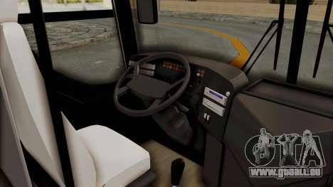 Superlines Ordinary Bus pour GTA San Andreas vue arrière