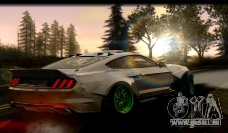Ford Mustang RTRX Coupe für GTA San Andreas zurück linke Ansicht