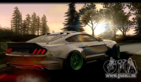 Ford Mustang RTRX Coupe pour GTA San Andreas sur la vue arrière gauche