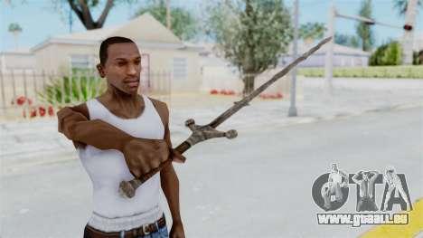 Skyrim Iron Claymore pour GTA San Andreas troisième écran
