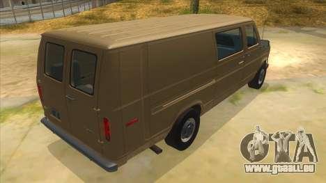 Ford E-250 Extended Van 1979 pour GTA San Andreas vue de droite