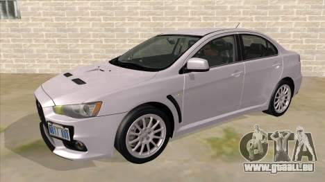 Mitsubishi Lancer Evolution X Tunable für GTA San Andreas