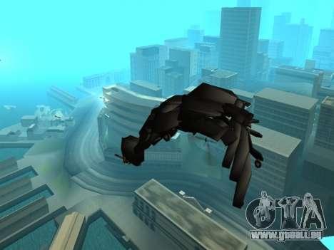 The Dark Knight Rises BAT v1 pour GTA San Andreas vue de dessus