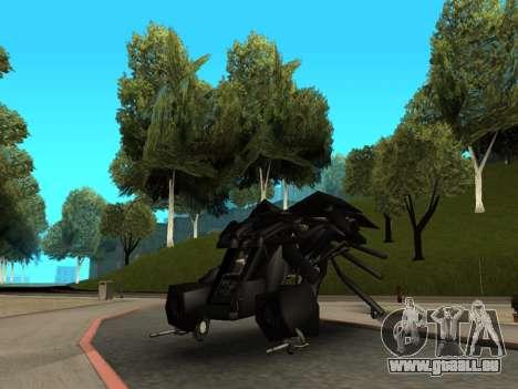 The Dark Knight Rises BAT v1 pour GTA San Andreas vue arrière