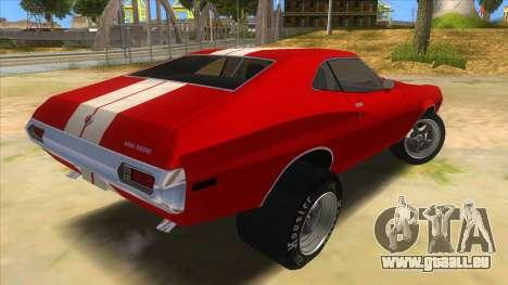 1972 Ford Gran Torino Drag pour GTA San Andreas vue de droite