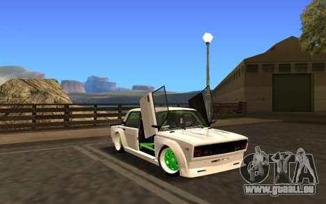 VAZ 2107 Race für GTA San Andreas zurück linke Ansicht