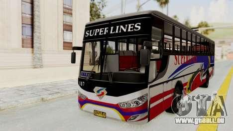 Superlines Ordinary Bus pour GTA San Andreas sur la vue arrière gauche