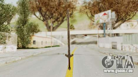 Skyrim Iron Long Sword pour GTA San Andreas