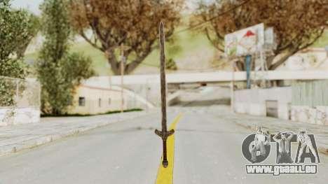 Skyrim Iron Long Sword für GTA San Andreas