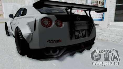 Nissan GT-R R35 2010 Liberty Walk pour GTA San Andreas vue intérieure