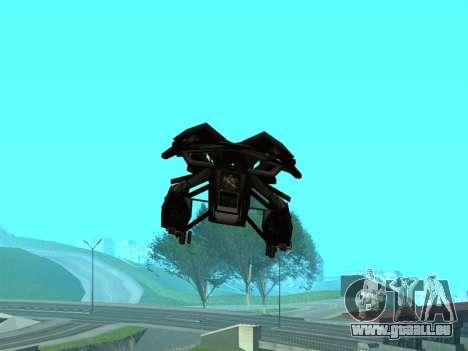 The Dark Knight Rises BAT v1 pour GTA San Andreas vue de dessous