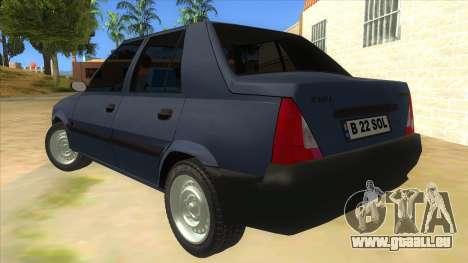 Dacia Solenza V2 pour GTA San Andreas sur la vue arrière gauche