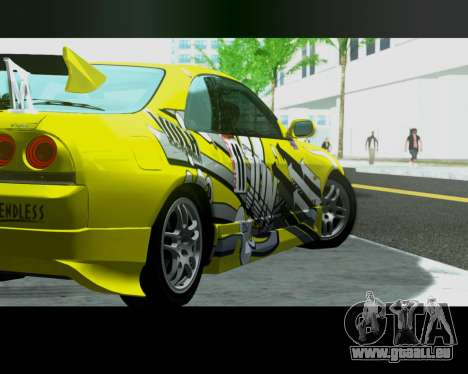 Nissan R33 GT-R Tunable für GTA San Andreas zurück linke Ansicht