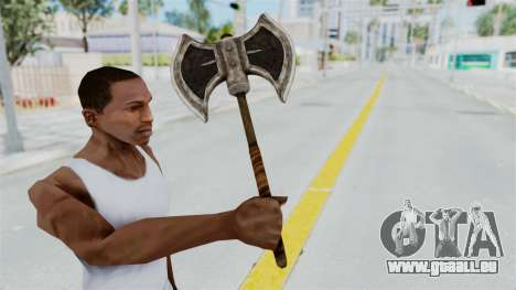 Skyrim Iron Battle Axe für GTA San Andreas dritten Screenshot