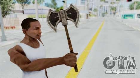 Skyrim Iron Battle Axe für GTA San Andreas dritten Screenshot