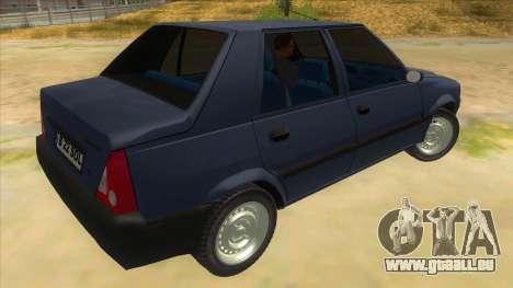 Dacia Solenza V2 pour GTA San Andreas vue de droite