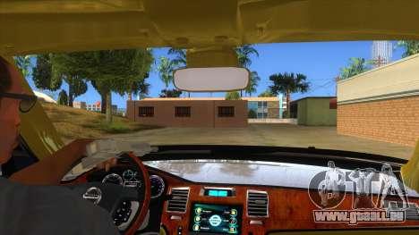 Nissan Patrol 2016 pour GTA San Andreas vue intérieure