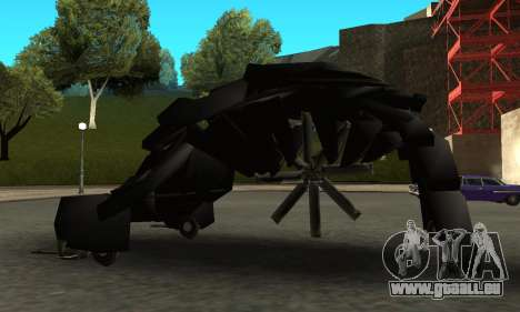 The Dark Knight Rises BAT v1 pour GTA San Andreas laissé vue