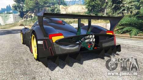 GTA 5 Pagani Zonda R arrière vue latérale gauche
