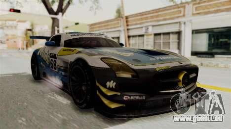 Mercedes-Benz SLS AMG GT3 PJ3 für GTA San Andreas Rückansicht