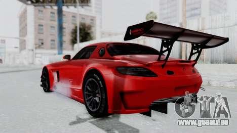 Mercedes-Benz SLS AMG GT3 PJ6 pour GTA San Andreas laissé vue