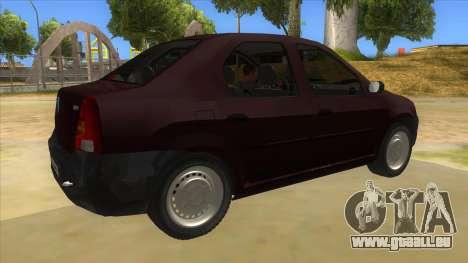 Dacia Logan V2 Final pour GTA San Andreas vue de droite