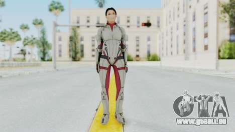 ME 1 Ashley Williams Default White Armor für GTA San Andreas zweiten Screenshot