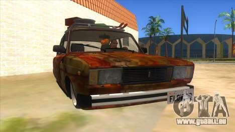 VAZ 2107 Rusty Gringo pour GTA San Andreas vue arrière