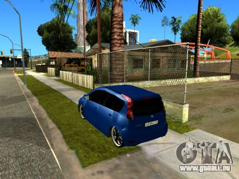 Nissan Note KURMIN StreetRacer pour GTA San Andreas vue arrière