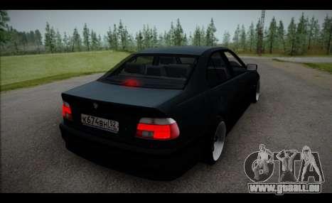 BMW 525i pour GTA San Andreas sur la vue arrière gauche