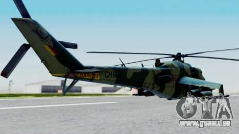 Mi-24V Sri-Lanka Air Force CH621 für GTA San Andreas linke Ansicht
