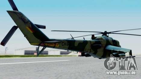 Mi-24V Sri-Lanka Air Force CH621 pour GTA San Andreas laissé vue