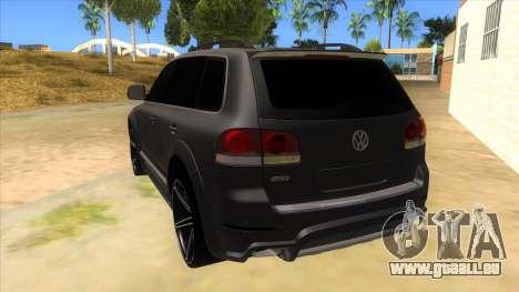 Volkswagen Touareg HQ für GTA San Andreas zurück linke Ansicht