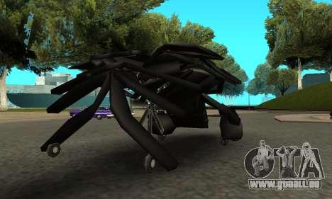 The Dark Knight Rises BAT v1 pour GTA San Andreas vue de droite