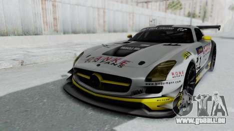 Mercedes-Benz SLS AMG GT3 PJ6 pour GTA San Andreas vue de dessous