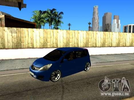 Nissan Note KURMIN StreetRacer für GTA San Andreas