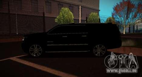 2015 Chevrolet Suburban Staatsanwaltschaft für GTA San Andreas linke Ansicht